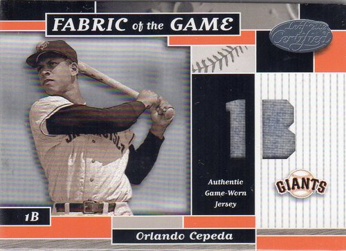 Photo of 2002 Leaf Certified Fabric of the Game #56PS Orlando Cepeda/50