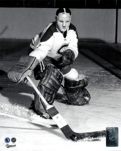 Jacques Plante Montreal Canadiens Black & White Action Hockey Hall Of Fame Collection 8x10 Photo