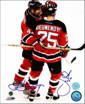 STEVENS NIEUWENDYK New Jersey Devils Dual SIGNED 8x10 Photo