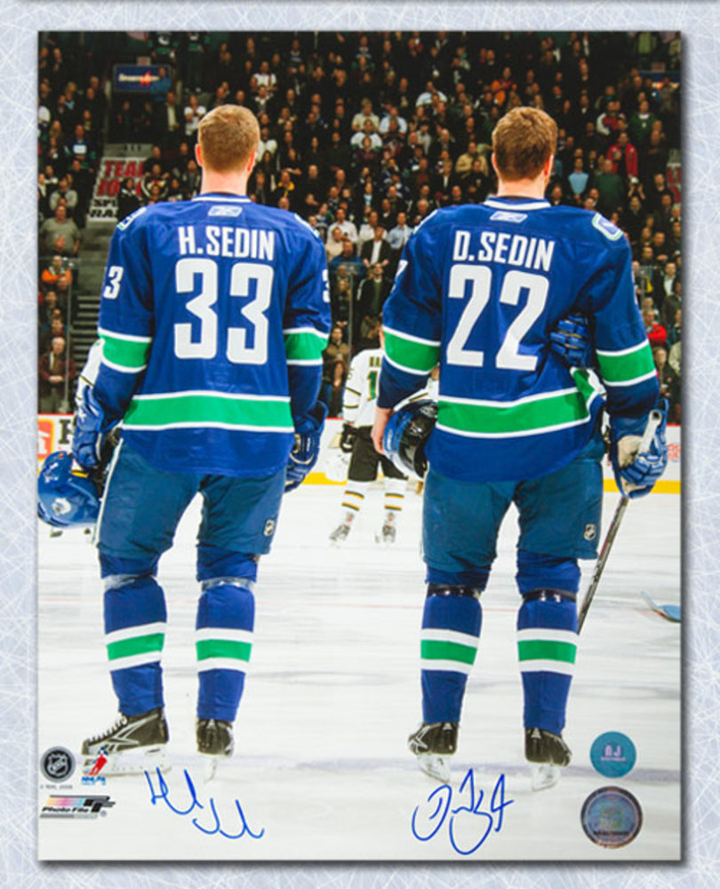 Henrik & Daniel Sedin Vancouver Canucks Autographed Reverse Intro 11x14 Photo