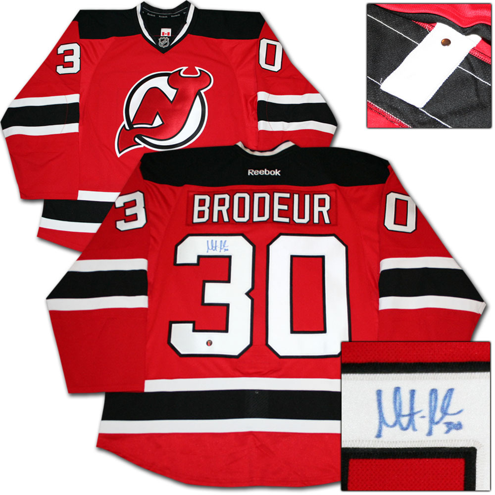 Martin Brodeur Autographed New Jersey Devils Authentic Pro Jersey