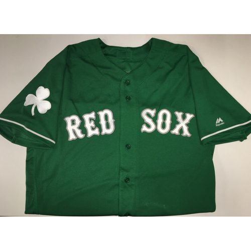 Photo of Red Sox Foundation St. Patrick's Day Jersey Auction - Edgar Olmos Game-Used & Autographed Jersey