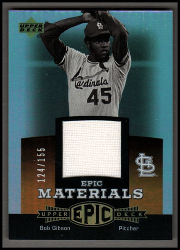 Photo of 2006 Upper Deck Epic Materials Dark Orange #BG Bob Gibson Jsy/155