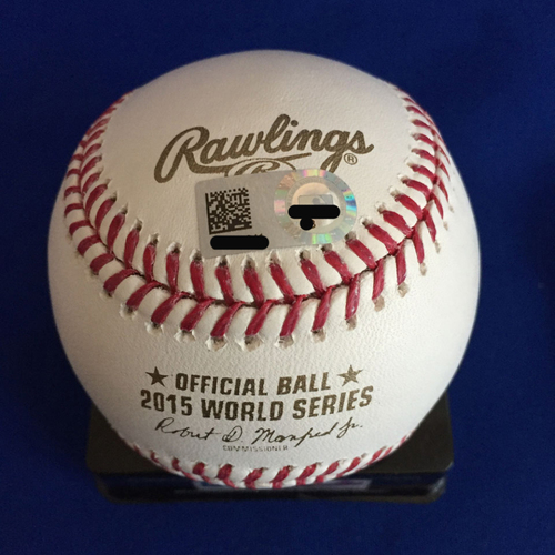 Photo of UMPS CARE AUCTION: Mike Moustakas Signed 2015 World Series Baseball