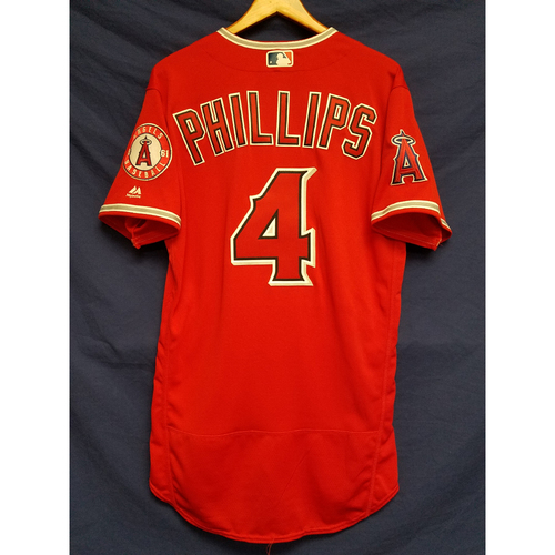 Photo of Brandon Phillips 2017 Alt Game-Used Red Jersey
