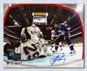 Steven Stamkos Tampa Bay Lightning Autographed Net Cam 8x10 Photo