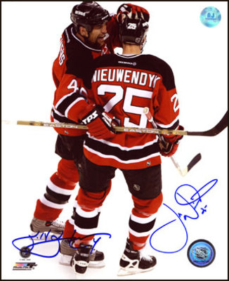 SCOTT STEVENS & JOE NIEUWENDYK New Jersey Devils DUAL SIGNED 16x20 Photo