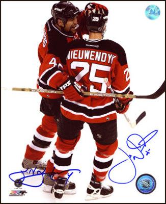 SCOTT STEVENS & JOE NIEUWENDYK New Jersey Devils DUAL SIGNED 16x20 Photo
