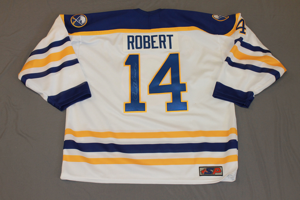Rene Robert Autographed Buffalo Sabres Breast Cancer Awareness Jersey