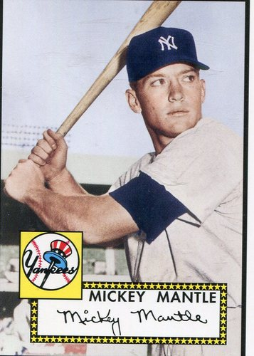 Photo of 2006 Topps Rookie of the Week #1 Mickey Mantle 1952