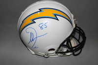 CHARGERS - ANTONIO GATES SIGNED CHARGERS PROLINE HELMET
