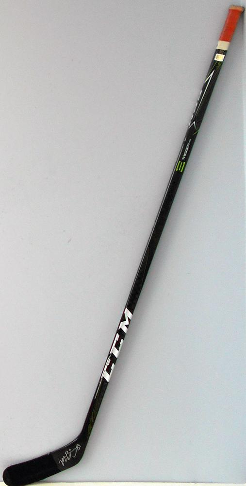 #83 MattBenning Game Used Stick - Autographed - Edmonton Oilers