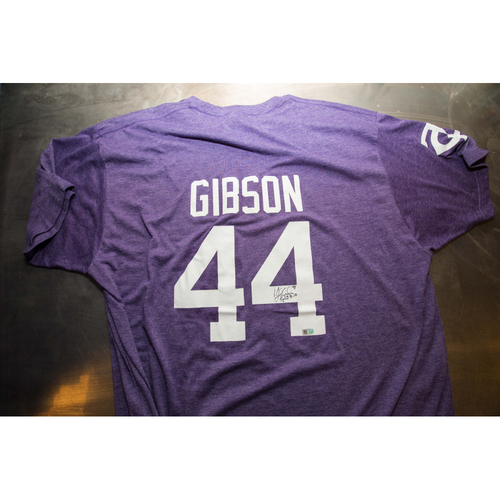 Photo of Autographed Kyle Gibson Prince Night Batting Practice T-Shirt