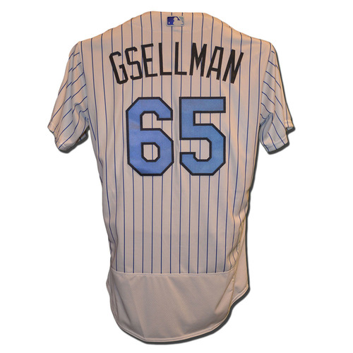 Photo of Robert Gsellman #65 - Team Issued Father's Day Jersey - Mets vs. Nationals - 6/18/17