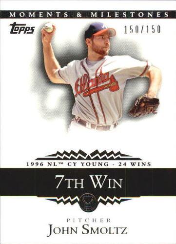 Photo of 2007 Topps Moments and Milestones #127-7 John Smoltz/W 7