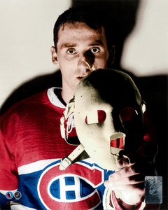 Jacques Plante Montreal Canadiens The MASK Hockey Hall Of Fame Collection 8x10 Photo