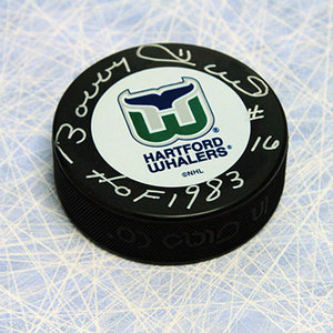 Bobby Hull Hartford Whalers Autographed Hockey Puck w/ HOF