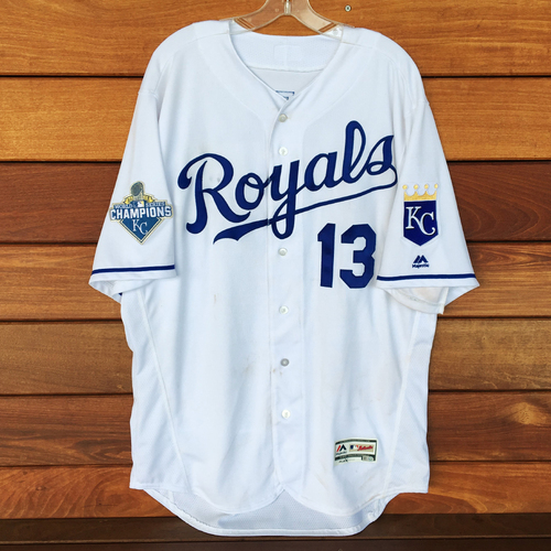 Photo of Salvador Perez Game-Used Jersey (9/15/16) - Size 48