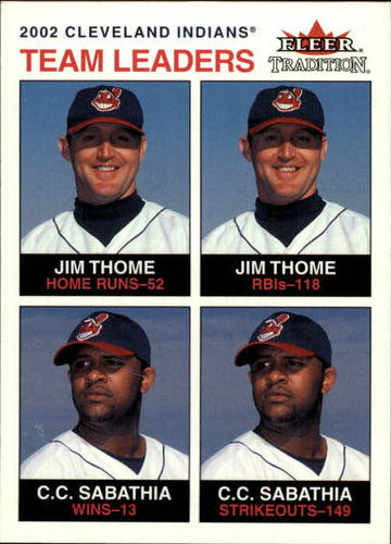 Photo of 2003 Fleer Tradition #9 C.Sabathia/J.Thome TL