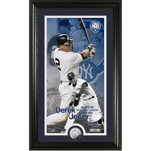 Serial #1! Derek Jeter #2 Jersey Retirement Supreme Silver Coin Photo Mint