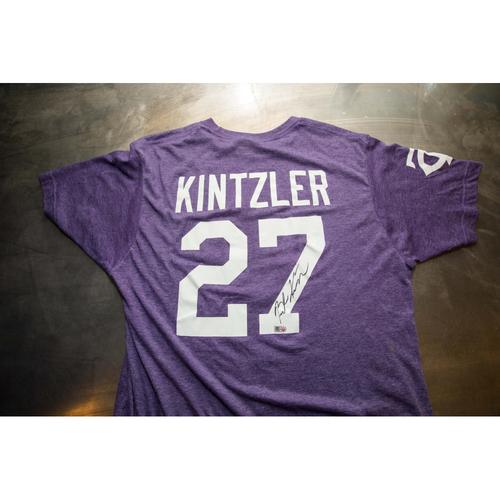 Photo of Autographed Brandon Kintzler Prince Night Batting Practice T-Shirt