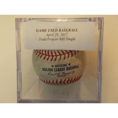 Photo of Game-Used Baseball: Todd Frazier RBI Single