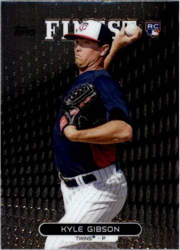 Photo of 2013 Finest #57 Kyle Gibson RC Rookie Card -- Twins post-season