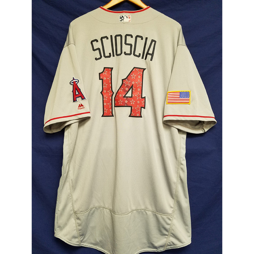 Photo of Mike Scioscia 2017 Team-Issued Road Jersey - 7/4/2017