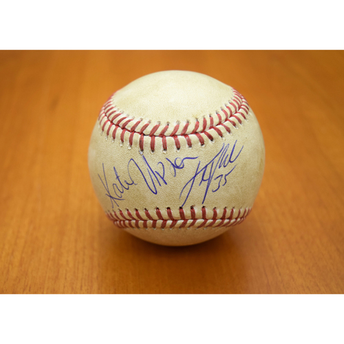 Photo of Justin Verlander Game-Used Baseball - Autographed by Verlander and Kate Upton (Autographs Not Authenticated by MLB)
