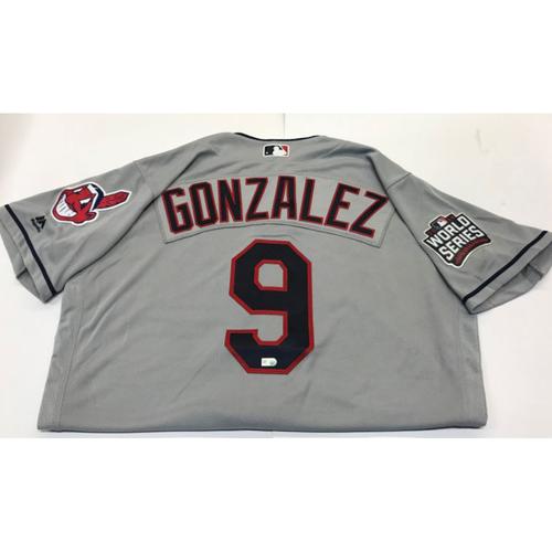 Photo of Erik Gonzalez Team-Issued 2016 World Series Jersey