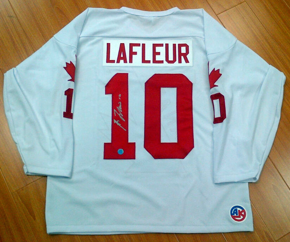 GUY LAFLEUR Team Canada AUTOGRAPHED 1976 Canada Cup Jersey