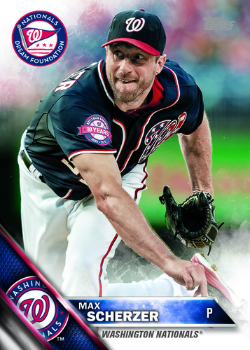 Photo of MAX SCHERZER AUTOGRAPHED, PERSONALIZED & MLB AUTHENTICATED LIMITED EDITION WNDF BASEBALL CARD