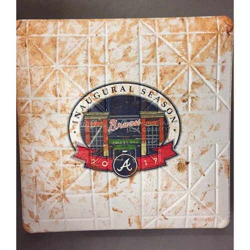 Photo of Game-Used Base used during the First Game at SunTrust Park-April 14, 2017