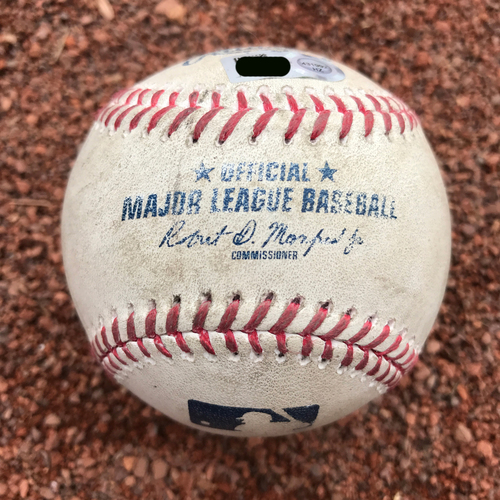 Photo of San Francisco Giants - 2017 Game-Used Baseball - Ryder Jones Lineout