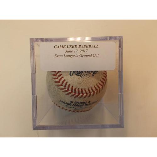 Photo of Game-Used Baseball: Evan Longoria Ground Out