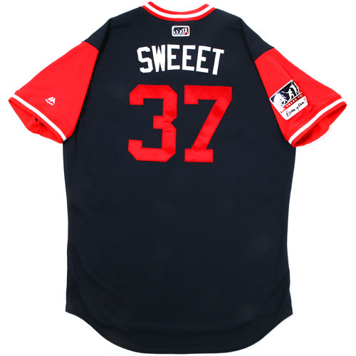 "Photo of Ron ""Sweet"" Washington Atlanta Braves Game-Used Players Weekend Jersey"
