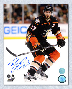 Ryan Kesler Anaheim Ducks Autographed Game Action 8x10 Photo