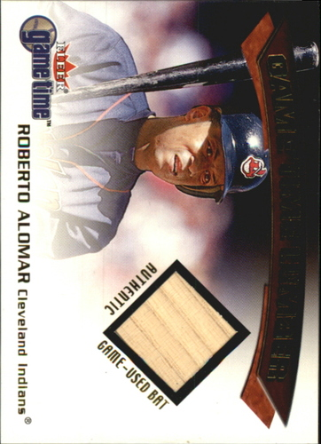 Photo of 2001 Fleer Game Time Lumber #1 Roberto Alomar