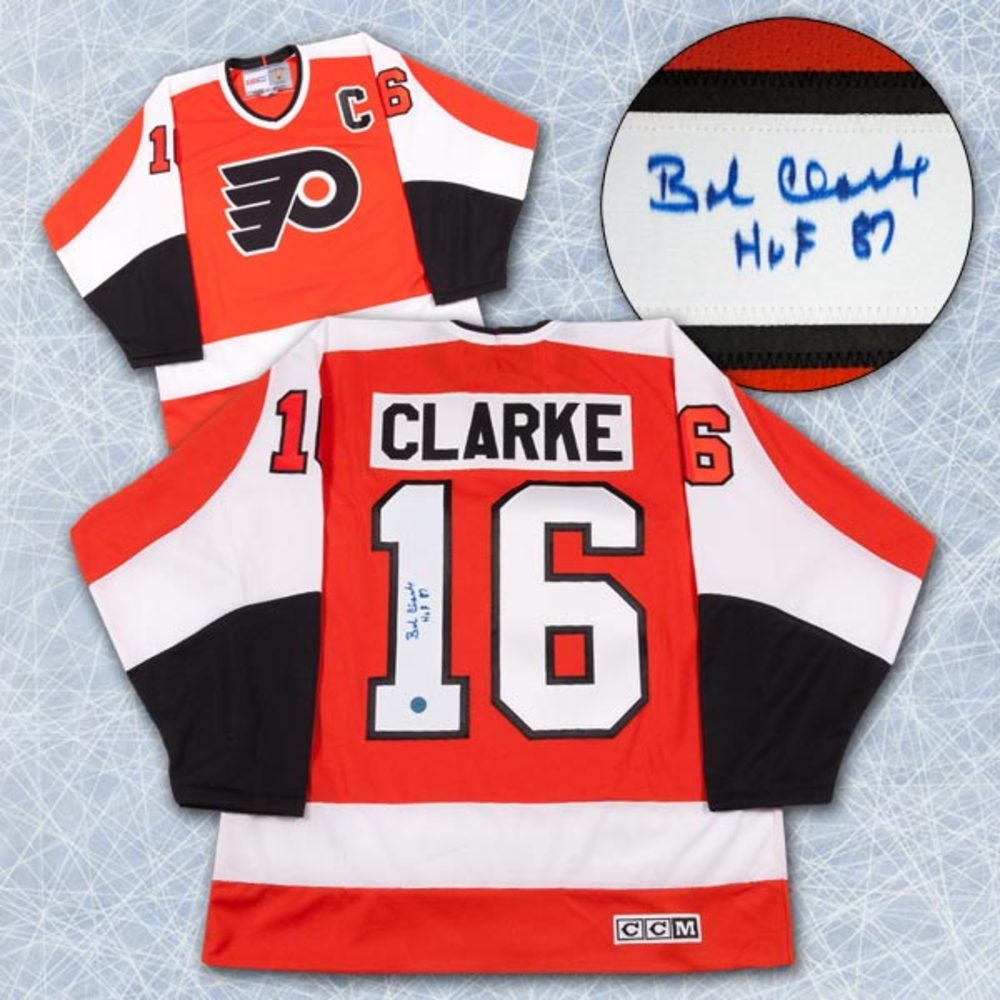 Bobby Clarke Philadelphia Flyers Autographed Stanley Cup Retro CCM Jersey