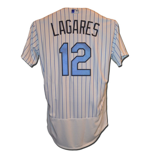 Photo of Juan Lagares #12 - Team Issued Father's Day Jersey - Mets vs. Nationals - 6/18/17