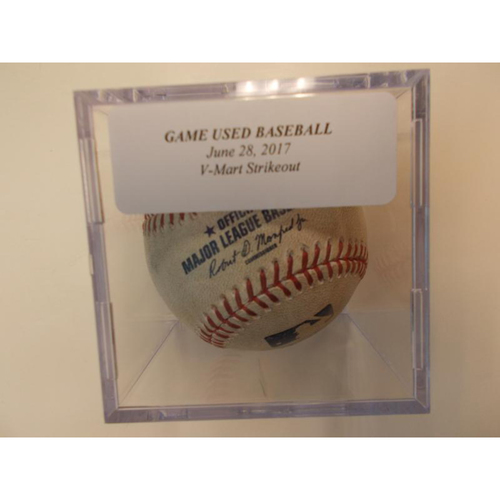 Photo of Game-Used Baseball: Victor Martinez Strike Out
