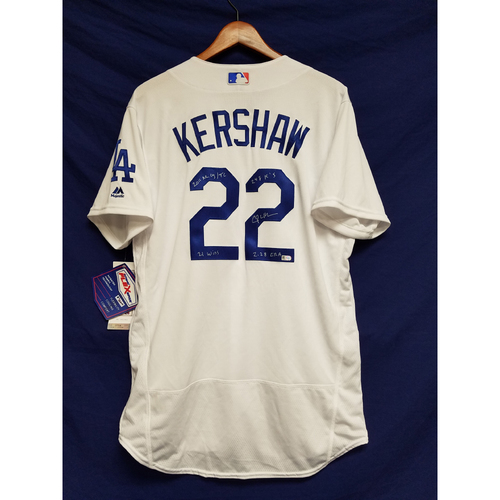 Photo of Kershaw's Challenge: Clayton Kershaw 2011 Autographed Home Jersey