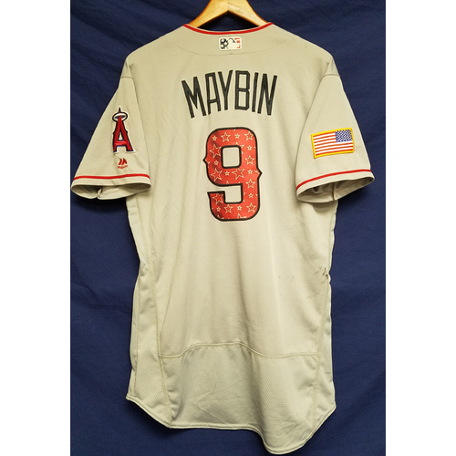 Photo of Cameron Maybin Game-Used Road Jersey - 7/4/2017