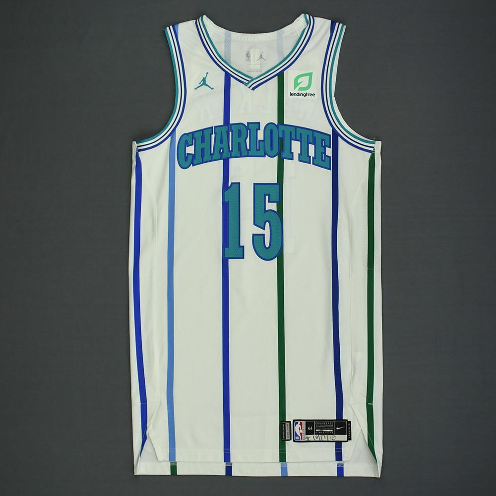 Kemba Walker - Charlotte Hornets - Kia NBA Tip-Off 2018 - Game-Worn Classic Edition '1988-97 Home' Jersey - Scored 41 Points