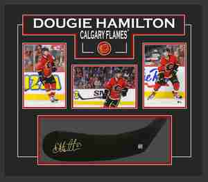 Dougie Hamilton - Signed & Framed Stickblade - ft. Calgary Flames Photo Collection