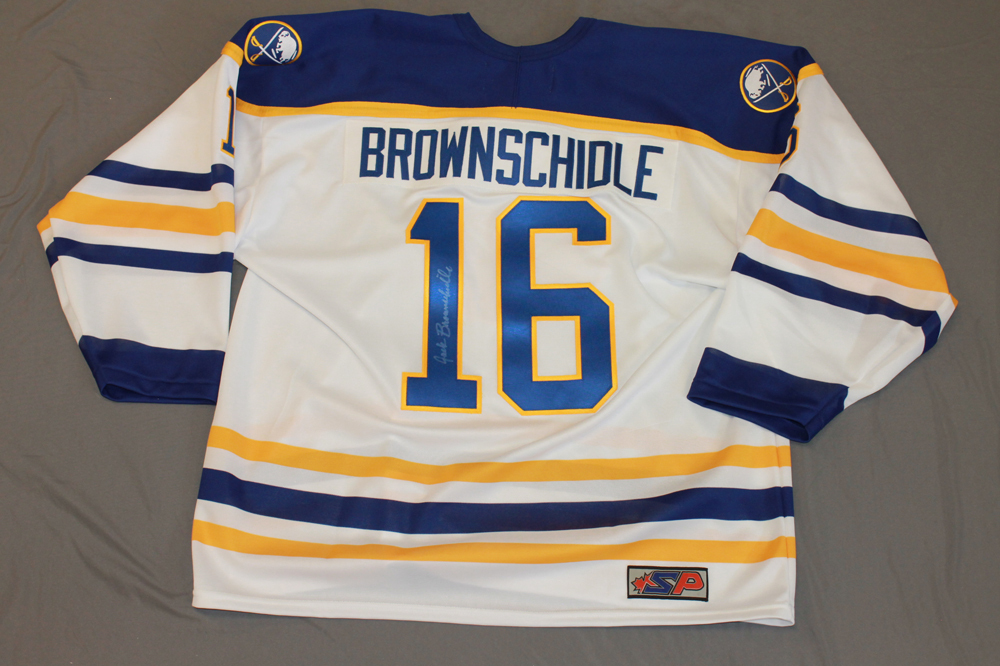 Jack Brownschidle Autographed Buffalo Sabres Breast Cancer Awareness Jersey