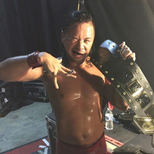 Photo of Shinsuke Nakamura SIGNED NXT Championship Replica Title (NXT TakeOver: Brooklyn II - 08/20/16)