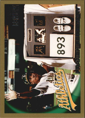 Photo of 2010 Topps Gold Border #137 Oakland Athletics