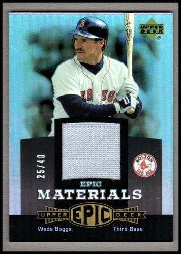 Photo of 2006 Upper Deck Epic Materials Grey #WB1 Wade Boggs Jsy/40
