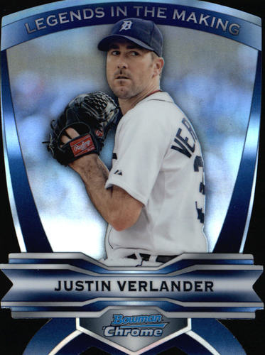Photo of 2012 Bowman Chrome Legends In The Making Justin Verlander -- Astros post-season